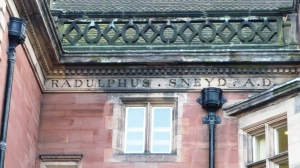 Ralph Sneyd's inscription on Keele Hall