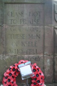 Keele war memorial: west face